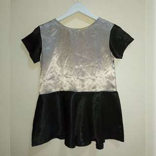 Peplum Satin Top