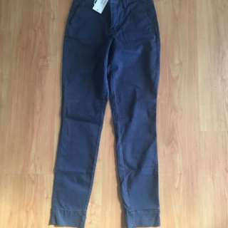 BNWT Just Jeans Navy Cropped Chino (Size 6)