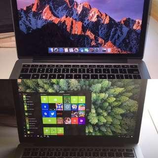 "MacBook Pro 13"" Retina 2.6GHz i5 8Gb Dual Boot Mac & Windows"