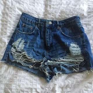 High Waist Shorts Size 10 Topshop