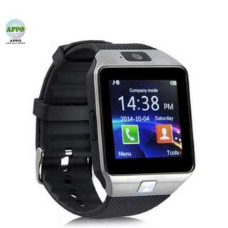 APPO DZ09 Bluetooth Phone Quad Smart Watch Touchscreen with Camera (Silver)
