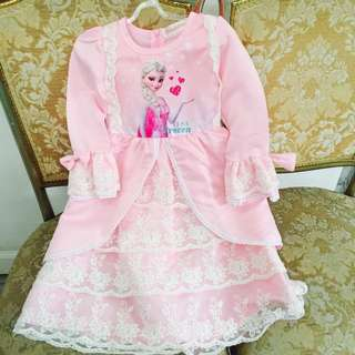 SALE! Frozen Pink Dress With Lace