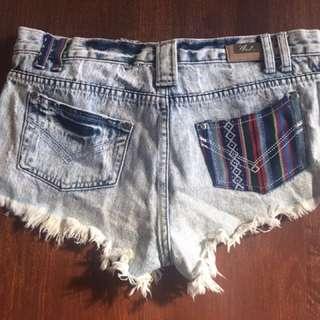 Denim Short Shorts (Size 20)