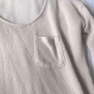 Valleygirl Cream Oversized Knit Size L