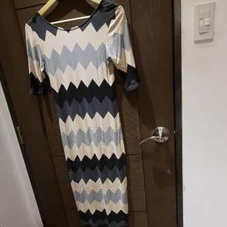 Dorothy Perkins Chevron Bodycon Dress (For Date Night)
