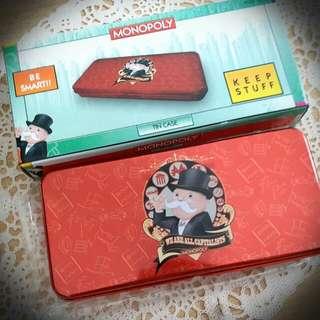 S 大富翁x豐澤 鐵筆盒 Fortress X Monopoly Red Pencil Case Pencil Box