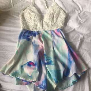 Patterned Playsuit Size 10