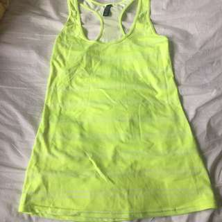 Cotton On Body Size S Fluoro Yellow Training Top