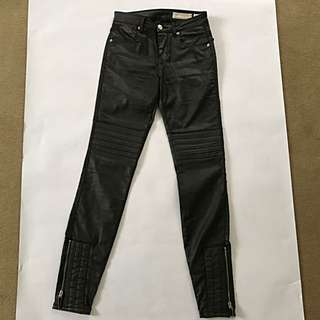 SASS AND BIDE leather Look Jeans Size 24