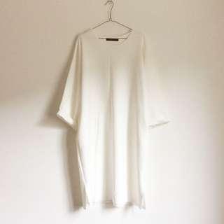 Starmimi 太空棉over Size簡約長版T恤洋裝 大尺碼 #交換最划算