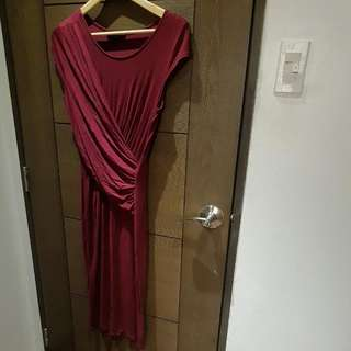 Dorothy Perkins Maroon Bodycon Dress For Date Night)