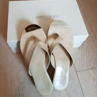 JIMMY CHOO Patent Leather Nude