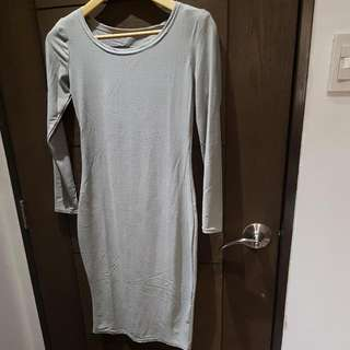 Gray Bodycon Dress (For Date Night)