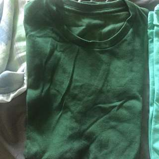 Green basic Tee Uniqlo M Size