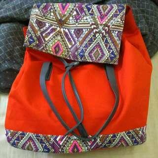 法國PROMAX亮橘設計後背包