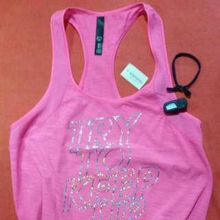 REPRICED! Aeropostale Try To Keep Up Running Top in hot pink