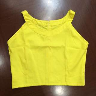 Crop Top - Yellow