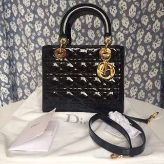 *urgent Sale* Lady Dior Medium Patent Ghw
