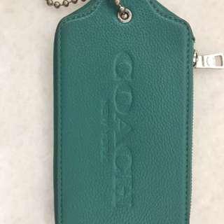 COACH 皮革吊牌造型手拿包(二手)