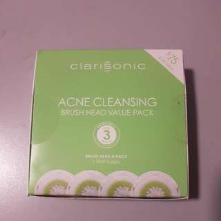 Brand New Unused Clarisonic Acne Cleansing Brush Heads x 3