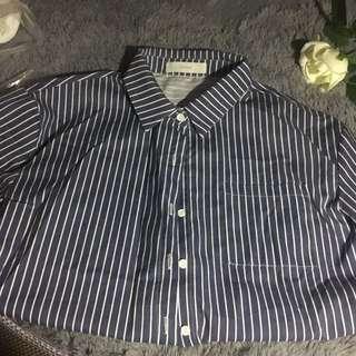 Intique 藍色間條恤衫