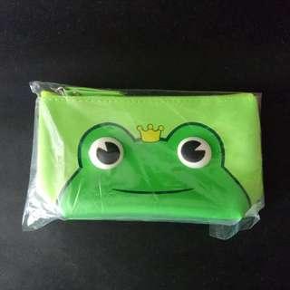 Marigold Green Frog Purse