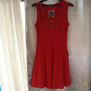 Pinc Red Dress