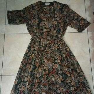 Paisle Leaf Vintage Dress