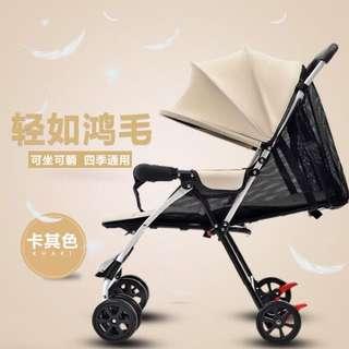 現貨-夏天3.5公分輕型可坐躺摺疊冬夏四輪手推傘車bb寶寶兒童小嬰兒車