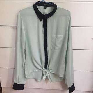 Forever 21 Mint Button Up Shirt