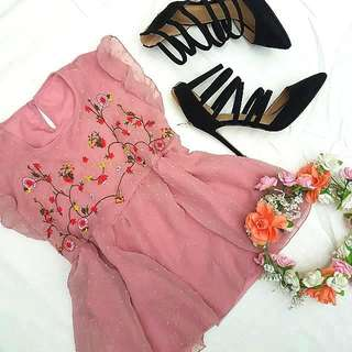 Embroidered Top (Pink)