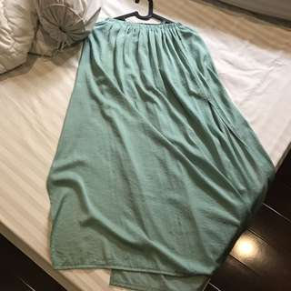 Zara Tosca Maxi Skirt With Slit