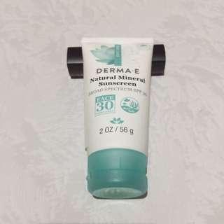 DermaE Natural Mineral Sunscreen SPF 50