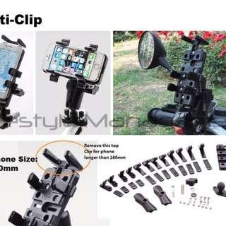 Multi Clip Handphone Holder