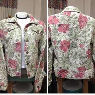 Charter Club Soft Denim Floral Jacket