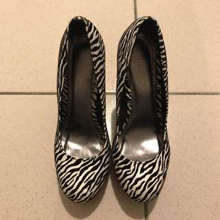 厚底斑馬紋高跟鞋