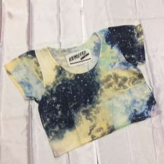 """Kidnapped Ally"" Galaxy Crop Shirt"
