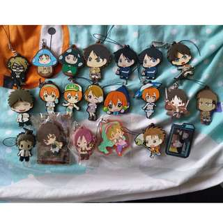 anime charm keychain attack on titan / lovelive / free / sdr2
