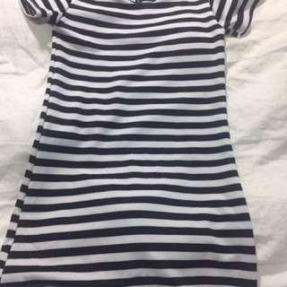 Black & White Striped Dress