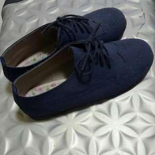 (二手)休閒女鞋23cm暗藍