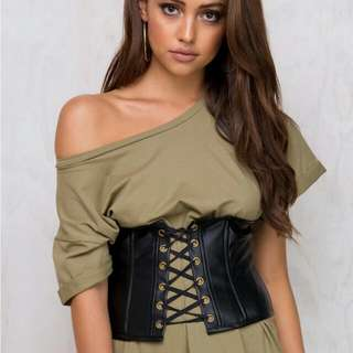 Minkpink all Tied Up Lace Corset Belt