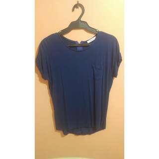 Blue Zara Basics Shirt