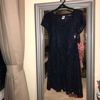 VERO MODA Lace Navy Mini Dress