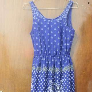 H&M Blue Tribal Crochella Dress #onlinesale