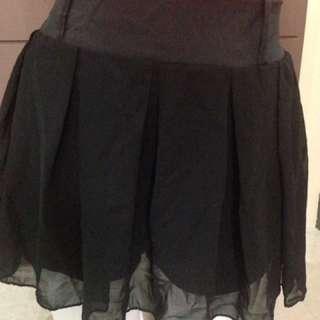 Chiffon Skirt With Shorts Inside