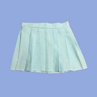 pastel blue skirt
