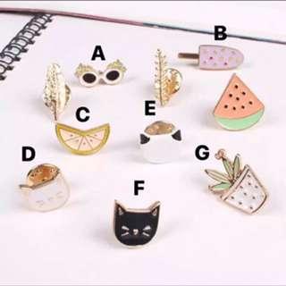 The Chic Masquerade Pin Badges Set