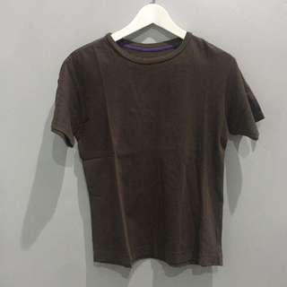 T-shirt Giordano Coklat