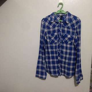 Blue Checkered Longsleeves