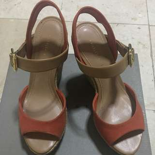 Charles and Keith Orange/Brown Wedge